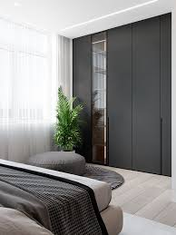 wall of closets decorating with black interior design