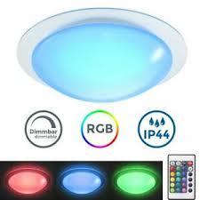 details zu led bad leuchte decken le dimmbar fernbedienung farbwechsel ip44 wohnzimmer