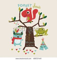 Three Little Forest Friends Playing Editable Vector Artwork Design For Kids And Babies T