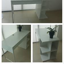ikea micke desk with integrated storage home furniture on carousell
