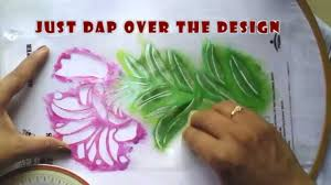 Fabrics For Curtains India by Stencil Painting In Fabrics Youtube