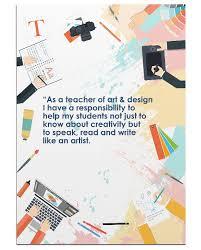 Doodles Art And Design Teacher Posteer