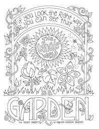 Secret Garden Coloring Page Frances Hodgson Burnett Quotes Adults Kids Printable Download From JenniferTraftonArt On Etsy Studio