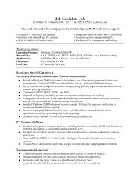 Sample Resume For Experienced Windows System Administrator Refrence Server Best