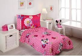 Minnie Mouse Twin Bedding by Disney Minnie Mouse Bow Power 4 Piece Toddler Bedding Set Ebay