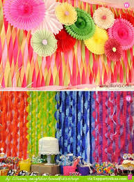 18 Crepe Paper Wall Decorations Ceiling Decoration Using Plastic Tablecloths Streamers