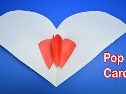 Valentines Day Pop Up Heart I Origami Card Paper