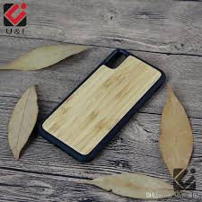 Bamboo Case For Iphone X Real Wood Full Tpu Protector Mobile Phone Cover Custom U&I Blank Wooden For Apple X Coque Factory Fundas Cell Phone Carrying Case