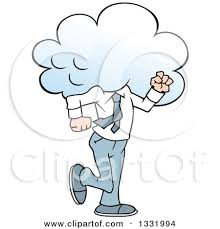 Man With Storm Clouds Clipart