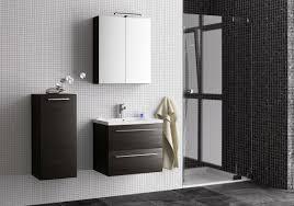 badezimmermöbel set w rajkot 3 teilig inkl waschtisch waschbecken farbe eiche schwarz