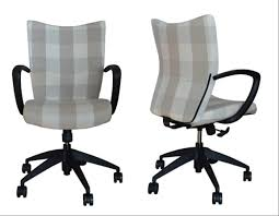 Upholstered Desk Chair Without Wheels Dining Chair