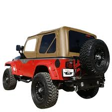 Rampage Replacement Soft Top with Upper Door Skins & Tinted