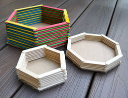 Popsicle Stick Baskets More