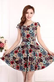 maxi dresses women ladies summer dresses short sleeve flower print