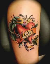 Mom Tattoo With Heart On Thigh You Can Also Get 3d Mother Tattoos Available In Medium Small And Large Size