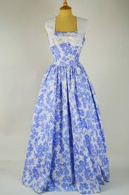 1950s vintage dress by horrockses blue and white floral with