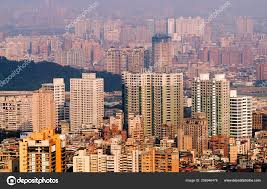 100 Apartments In Taiwan City Landscape Buildings Taipei Stock