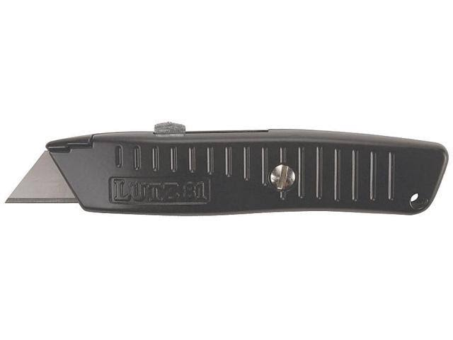 Lutz Safety Nose Retractable Blade Utility Knife - Black