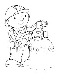 Brilliant Ideas Of Bob The Builder Coloring Pages To Print For Letter Template