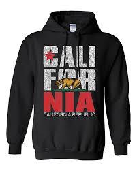 California Flag Retro Bold Text Sweatshirt Hoodie