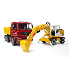Bruder - Construction Truck And Liebherr Excavator (02751) - The ...