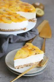 no bake skyr kuchen mit sungold kiwi