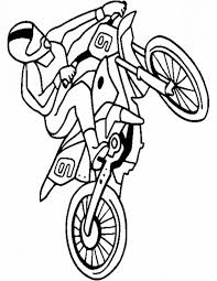 Dirt Bike Rider Doing A High Jump Coloring Page For Kids