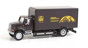 100 Ups Truck Toy Details About Walthers HO Scale International 4900 SingleAxle Box Van UPS Modern Shield