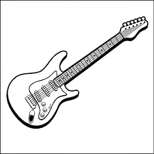 Electric Guitar Wall Decal Art Stickers