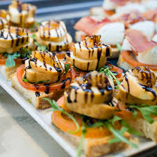 canape madrid cheese and tomato canapés stock image image of crop 53548905