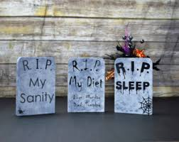 Funny Halloween Tombstones For Sale by Etsy Your Place To Buy And Sell All Things Handmade
