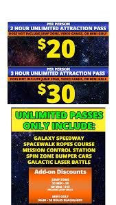 Galaxy Fun Park - Indoor Trampoline Park - Pricing ...