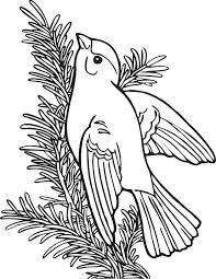 This Coloring Page For Kids Features A Willow Gold Finch Sitting On The Branch Of