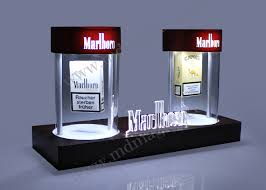 Acrylic Magnet Floating Cigarette Case Display Stand With Led Magnetic