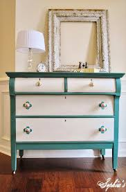 Colorful Bedroom Dressers With Bright Color Concept Rustic Turquoise And White Dresser DIY On Darkwood