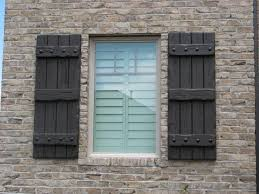 Rustic Shutters For Cabin House