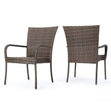 Chrystie Outdoor Wicker Stackable Club Chairs, Set Of 2, Mixed Mocha Gdf Studio Dorside Outdoor Wicker Armless Stack Chairs With Alinum Frame Dover Armed Stacking With Set Of 4 Palm Harbor Stackable White All Weather Patio Chair Bay Island Noble House Multibrown Ding 2pack Plowhearth Bistro Two 30 Arm Brown 51 Bfm Seating Ms11cbbbl Gray Rattan Inoutdoor Restaurant Of Red By Crosley Fniture