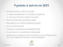 declaration auto entrepreneur chambre des metiers auto entrepreneur ce qui change en 2015 janvier ppt télécharger