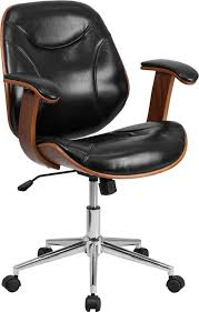 Flash Furniture Mid-Back Black Leather Executive Wood Swivel Office ... Worksmart Bonded Leather Office Chair Black Parma High Back Executive Cheap Blackbrown Wipe Woodstock Fniture Richmond Faux Desk Chairs Hunters Big Reuse Nadia Chesterfield Brisbane Devlin Lounges Skyline Luxury Chair Amazoncom Ofm Essentials Series Ergonomic Slope West Elm Australia Management Eames Replica Interior John Lewis Partners Warner At Tc Montana Ch0240