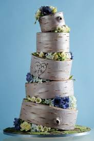 The Peoples Cake Wood Log Wedding