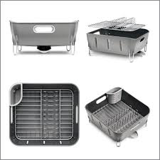 Simplehuman Sink Caddy Uk by Simplehuman Plastic Compact Dishrack Grey Amazon Co Uk Kitchen
