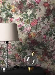 newroom vliestapete blumentapete grau bunt wallpaper floral blumen tapete pflanzen wohnzimmer schlafzimmer büro flur kaufen otto