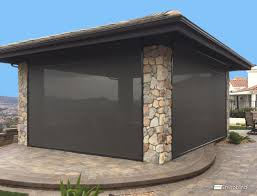 Vinyl Roll Up Patio Shades by Exterior Rolling Shutters Security Shutters And Sun Shade Screens