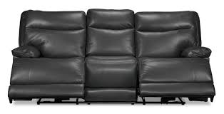 Thomasville Leather Sofa Recliner by Living Room Image Leather Power Reclining Sofa Oliver Graphite