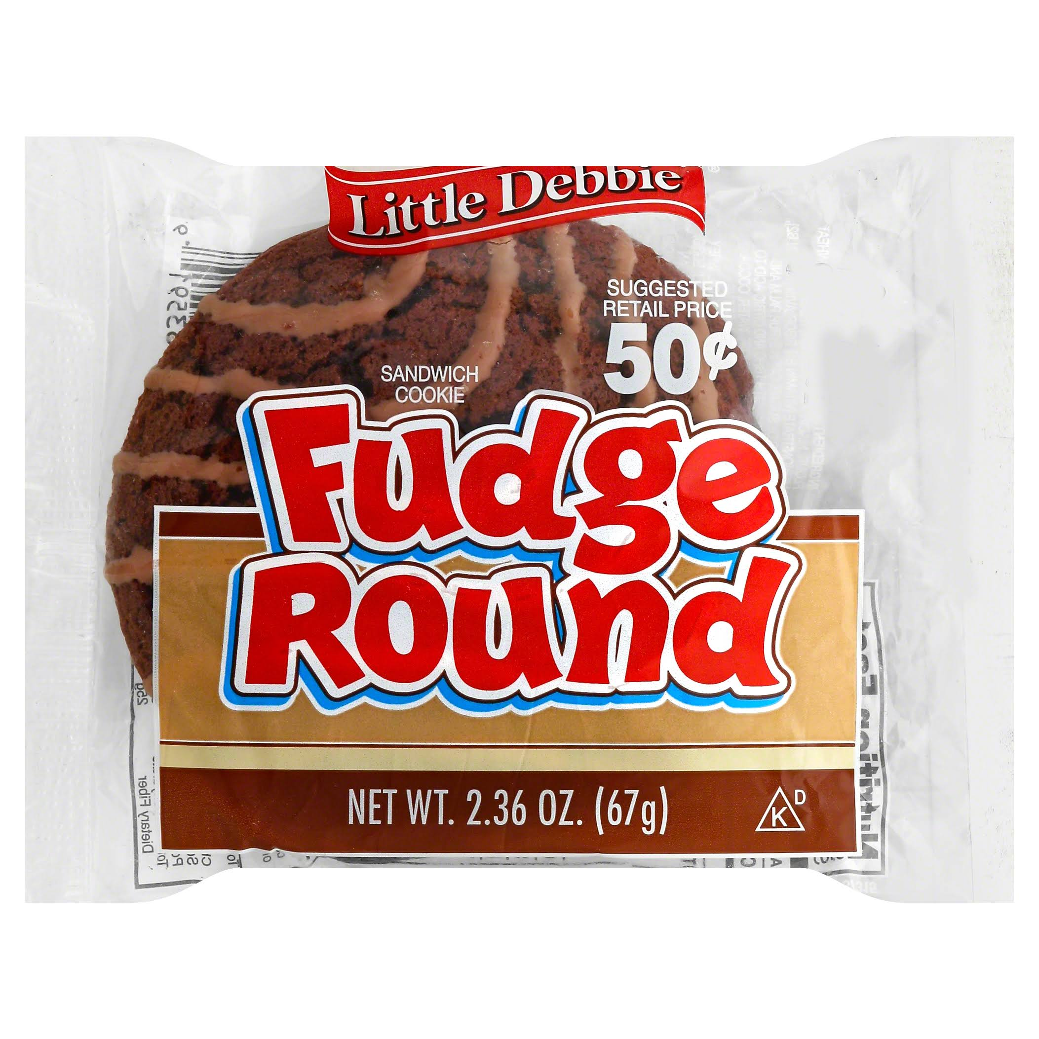Little Debbie Fudge Round Cookie - 2.36oz