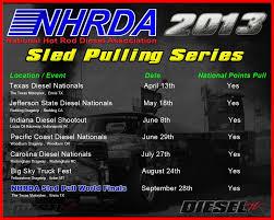 100 Truck Pull Games NHRDA National Hot Rod Diesel Association Press Release