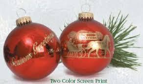 Glass Glitter Surround Print Fundraising Ornaments