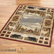 Area Rugs For Cabins Attractive Hunters Cabin Rustic