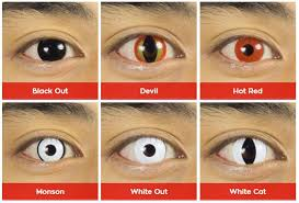 Blue Prescription Halloween Contacts by Halloween Contacts By Pure Colors Hd Contact Lenses