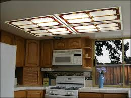 awesome wood kitchen light fixtures led lighting cover panels with